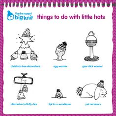 More things to do with little woolly hats