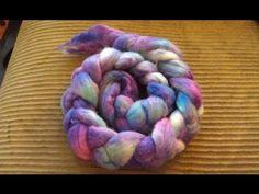 Breaking Wilton's Violet Food Coloring on Handpainted Roving - YouTube