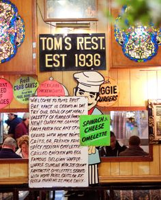 A house of nostalgia for its many regulars, Tom's still serves traditional egg creams and cherry-lime rickeys along with classic diner food in Brooklyn