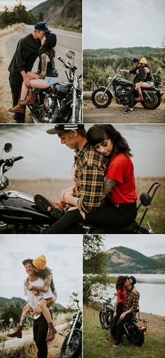 edgy, moto engagement shoot | photos by Dawn Photography