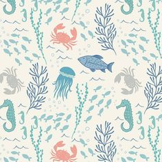 Crib Sheet or Changing Pad Cover | Boy Baby Bedding | Ocean Crib Sheet | Sea Creatures Crib Bedding | Ocean Nursery | Standard or Mini Crib