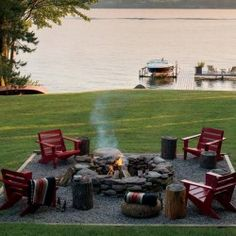 Trendy Ideas For Diy Outdoor Fire Pit Area Patio Fire Pit Seating, Backyard Seating, Fire Pit Backyard, Garden Seating, Backyard Patio, Backyard Landscaping, Seating Areas, Landscaping Ideas, Gravel Patio