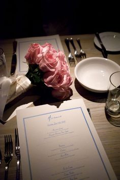 pink rose wedding bouquet at dinner, Avenue, Long Branch   NJ wedding photos   Studio A Images