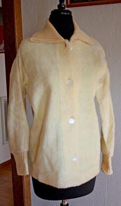 1970s Vintage Faux Fur Winter Jacket  Knit by VarietyVintagebyALD, $20.50