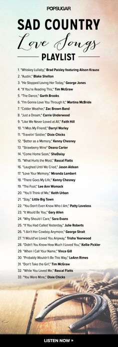 Besides the misspelling of Gary Allan's name this is a pretty good list!