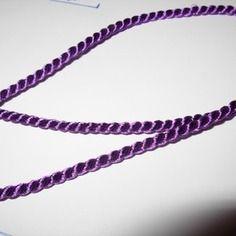 Cordon torsadé violet