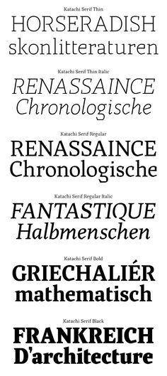 It's like a black letter had a threesome with a serif and a sans, and then, had two babies. Both beautiful children. Katachi Typeface by Ken Olling
