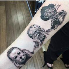 Tattoos #04: 25 Novas Imagens da Cultura Pop #tattoo #tatuagem #michaelmayers#jasonvoorhass #freddykrueger #tattoogamer #superherotatoo #geektattoo #nerdtattoo #PipocaComBacon