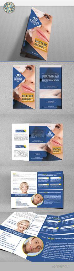 Folder duas dobras.  Redação: Adri Guimarães Arte: Andre Camargo.