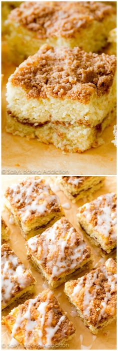 The BEST coffee cake I've ever made! Make indulgently rich and tender Old Fashioned Sour Cream Crumb Cake at home this weekend.