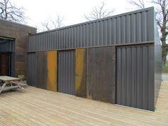 """Résultat de recherche d'images pour """"bardage acier corten pour façades"""""""