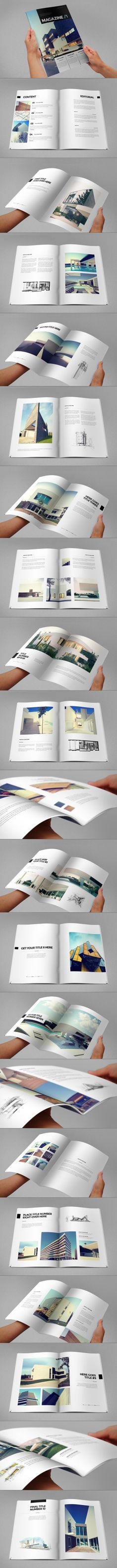 Architecture Minimal Magazine. Download here: http://graphicriver.net/item/architecture-minimal-magazine/6982340?ref=abradesign #magazine #design #architecture #portfolio