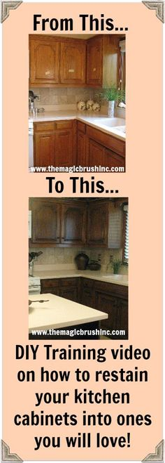 If you are like half the homes in America, you hate your kitchen cabinets. If you want to keep the wood look and not paint, this is your video!  I can't personally come to  your house and re-stain your cabinets into a kitchen so inviting you won't wan