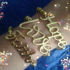 Hope, Love & Faith Set in Gold