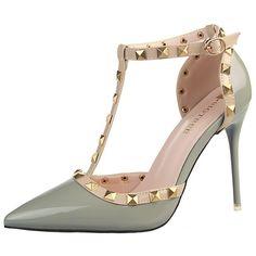 Shoespie Chic Low-key Luxury T Strap Stiletto Court Shoes