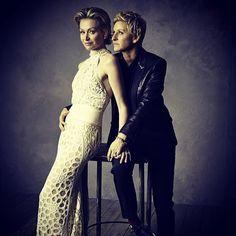 Ellen DeGeneres & Portia De Rossi from 2014 Oscars: Vanity Fair's After-Party Portrait Pics   E! Online