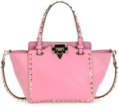Valentino Rockstud Micro Mini Tote Bag, Pink on shopstyle.com