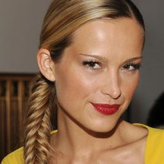 Petra Nemcova is perfection in this fishtail braid ponytail.