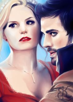 Love!! This person needs an award for drawing Captain Swan so beautifully.