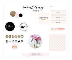 Free blog graphics kit download! Gold glitter, pink and black icons, buttons, logos, patterns, etc. So cute! Kate Stevens Designs: FREE BLOG STUFF