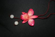 Preserved Fresh Orchid Adjustable  Necklace by PIYOYO on Etsy, $44.95