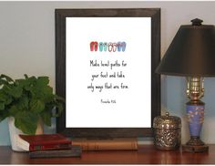 Printable Wall Art Poster Bible Verse PDF Scripture by ItstheWORD, $5.00