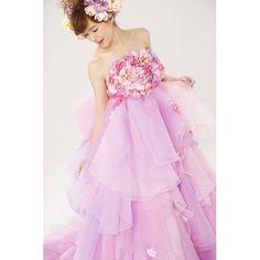 THE HANY【THE HANY】ピンクアレット☆ふわふわオーガンジーでキュートな花嫁に♪ ウエディングドレスを探す ゼクシィ