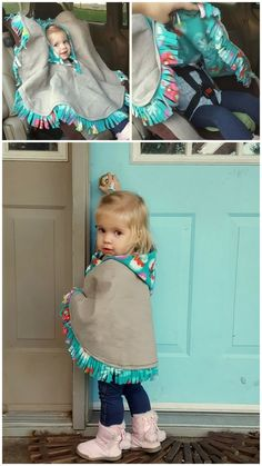 Toddler Poncho, Baby Poncho, Blanket Poncho, Kids Poncho, Fleece Poncho, Hooded Poncho, Baby Sewing Projects, Sewing For Kids, Baby Sewing Tutorials