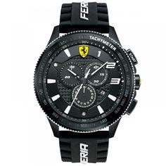 Relógio Scuderia Ferrari Masculino Borracha Preta  - 830242