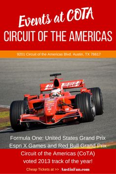 formula 1 events austin tx