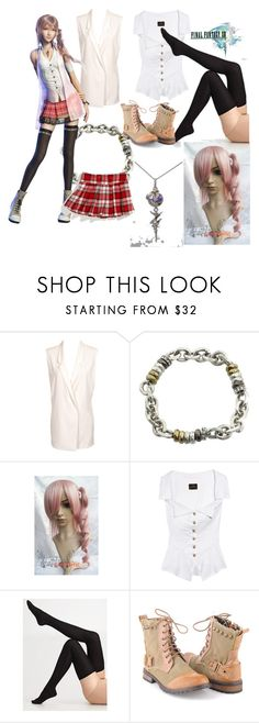 """Final Fantasy-Serah Ferron"" by brynponchobeastly ❤ liked on Polyvore featuring Josh Goot, FOSSIL, Vivienne Westwood Anglomania, Maria La Rosa, Forever 21, Benetton and serah ferron final fantasy 13 xiii"