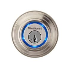 Kwikset, Kevo Single Cylinder Satin Nickel Bluetooth Enabled Deadbolt Compatible with iPhone 4S, 5, 5C, 5S and Included FOB, 925 KEVO DB 15 at The Home Depot - Mobile