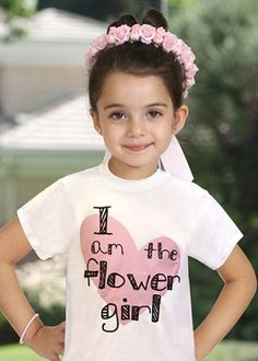 Cute for her to wear before wedding Flower Girls, Flower Girl Shirts, Flower Girl Dresses, Before Wedding, Our Wedding, Dream Wedding, Wedding Stuff, Perfect Wedding, Wedding Things
