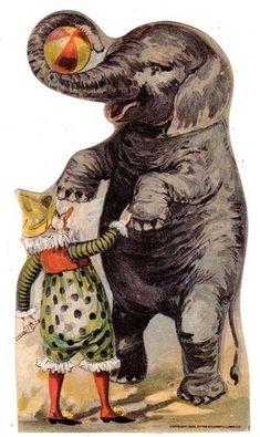 Willimantic Star Thread Trade Card Clown Elephant | eBay