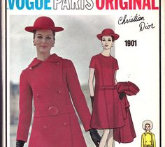 Sz 14 Vintage 60s Vogue Paris Original by allthepreciousthings, $125.00