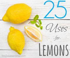 """25 Household Uses for Lemons (Nature's """"Febreze""""!)"""