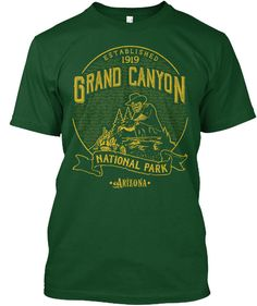 GET YOURS NOW! > Safe and Secure Checkout via Paypal or Credit Card. > These Products are printed on really comfortable, quality shirts. > High Quality Material. Digital Direct Printing, eco-friendly Ink. Tags: #Grand #Canyon #National #Park #Cowboy #ablished