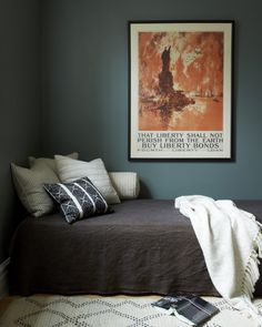 Green Smoke by Farrow and Ball - An Open, Airy Apartment (in Just 625 Square Feet) | A Cup of Jo