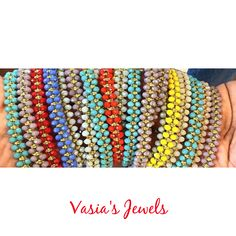 Handamade crystal bracelets