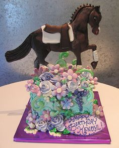 Floral Horse~  Modeling chocolate makes this simple horse have dimension.