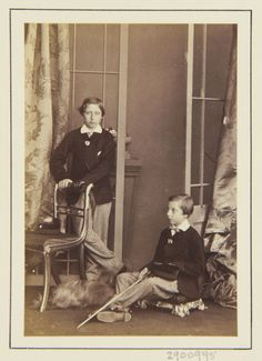 Prince Alfred, Duke of Edinburgh and Saxe-Coburg & Gotha - Prince Arthur and Prince Leopold, 1864 [in Portraits of Royal Children Queen Victoria Family Tree, Queen Victoria Children, Victoria's Children, Reine Victoria, Cultura General, The Royal Collection, Tsar Nicholas Ii, Vintage Comic Books, Victorian