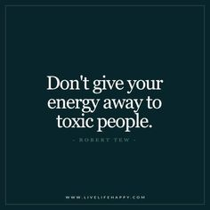 Don't Give Your Energy Away