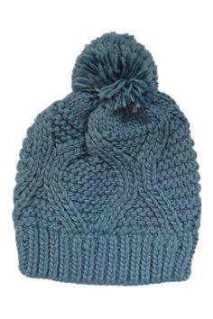 Oval Weave Beanie in Blue
