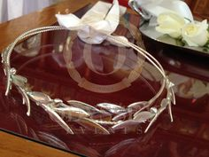 Silver dipped real olive branch wedding crowns (stefana), Exclusive to Odyssey Events