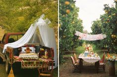 al fresco · entertaining · summer · tablescapes Outdoor Spaces, Outdoor Living, Outdoor Decor, Outdoor Dinner Parties, Table Set Up, Al Fresco Dining, Tablescapes, New Homes, Rustic