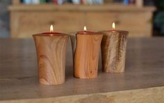 Hand turned wooden tea lights - Jonathan Leech                                                                                                                                                                                 More
