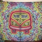 VW Bus Tie Dye Tapestry as featured on Dharma Trading Co. Happy Hippie, Hippie Boho, Tie Dye Patterns, Diy Tie Dye Tapestry Patterns, Tie Dye Crafts, Tie Dye Techniques, Vw T1, Vw Volkswagen, How To Tie Dye