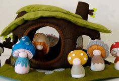 SHROOMPER-DOLLS - $25-32 and other green gifts for kids.