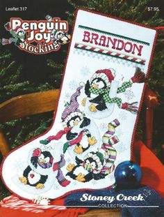 STONEY CREEK COLLECTION Penguin Joy Stocking by NeedleCaseGoodies