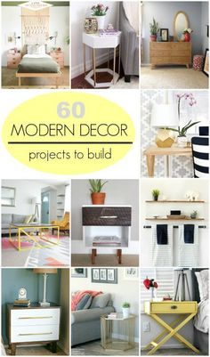 60 Modern #Decor Projects you can build yourself. Simple #DIY tutorials! #diyprojects #diyideas #diyinspiration #diycrafts #diytutorial